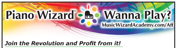 Piano Wizard - Learn to Play Piano Affiliates Header